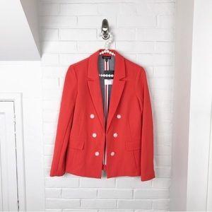 {Topshop} NWT Bonded Bubble Crepe Orange Jacket